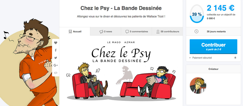 Ulule chez le psy 39 collect s magoyond for Chez le psy